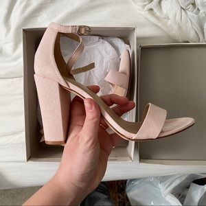 Ema High Block Heel - Blush